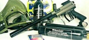 LOT OF 10 ~Spyder Compact 2000 Paintball Marker Semi-Auto Cal..68~W/Accessories