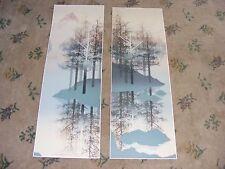 JAMES HAGEN  BLUE BROOK I & 2 ART SIGNED AND NUMBERED  SERIGRAPHS  EC!
