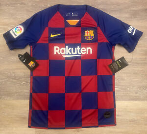 NWT! Youth Nike Authentic 2019-2020 FC Barcelona Soccer Jersey AJ5801 L $75!