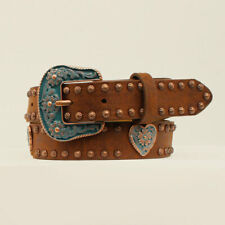Da5294 Angel Ranch Girls' Brown Western Belt with Copper Studs New