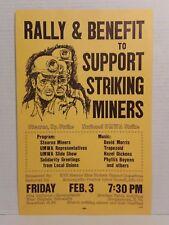 "1978 WVU ""Miners Strike Benefit Rally & CONCERT"" Flyer: TRAPEZOID, HAZEL DICKENS"