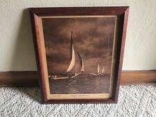 SKIPJACKS and SCHOONERS CHESAPEAKE BAY A. AUBREY BODINE Older Nautical Print