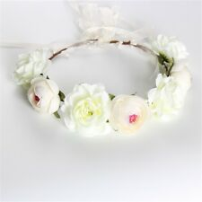 Accessories Festival Boho Crown Hairband Flower Headband Floral Wedding