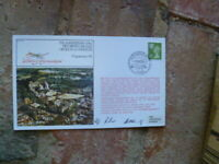 70TH ANNIV OF 1ST BRITISH AIRMAIL HENDON-WINDSOR FLIGHT COVER SIGNED BY 2