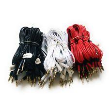 10 Aux Cables 1m/3.3ft 3.5mm Mp3 Stereo Audio Cable Wholesale Bulk Lot - Unicorn