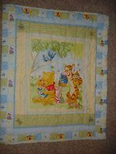 EUC Winnie the Pooh & Friends crib comforter quilt blanket toddler Tigger Eeyore