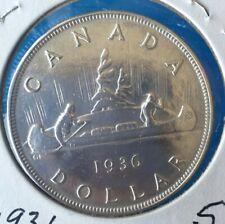 1936 CANADIAN SILVER DOLLAR **VG**