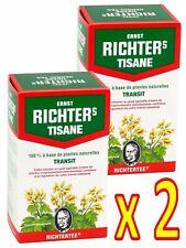Lot 2 Boîtes de Tisane Infusion Ernst Richter 40g 100% Base Plantes Naturelles