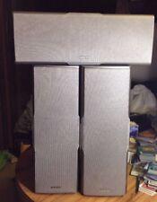 Onkyo Speaker System Lot SKC-540C SKC-540F Center & Front Silver 130W Set of 3