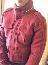 Adidas Originals A.039 Jacke S Herren Burgundy Rot Kapuze Winter Harrington