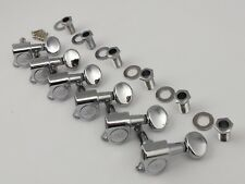 Wilkinson WJ-05 Machine Heads 6 in-line Tuners in 3 colours Chrome Black or Gold