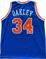 Charles Oakley autographed signed jersey NBA New York Knicks PSA COA Oaktree