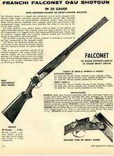 1972 Print Ad of Franchi 20ga Falconet O&U Lightweight Field Model Ebony Shotgun