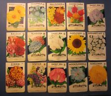 Lot of 15 Old Vintage 1940's FLOWER SEED PACKETS - Lone Star - TEXAS - EMPTY