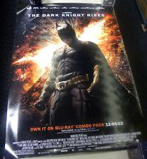 DARK KNIGHT RISIES DVD/BLU-RAY PROMOTIONAL KIT PROMO BATMAN BANNER POSTER