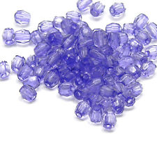 Lot of 500 Small Little 4mm Plastic Acrylic Transparent Faceted Beads