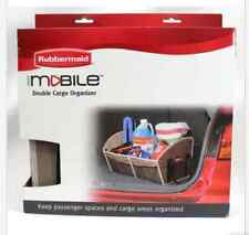 NEW Rubbermaid Durable Auto Mobile Double Cargo Organizer with mesh pockets