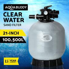 "Aquabuddy 21"" Swimming Pool Sand Filter Fiberglass Fibreglass Spa Pump 21 Inch"