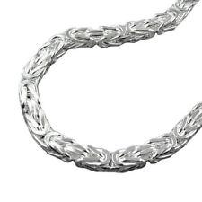 4 mm Königskette massiv Männer Armkette Armband 21 cm Karabiner Echt Silber 925
