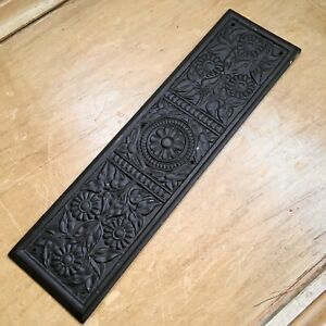 Single Antique Finger Plate Wood Push Plate Victorian Door Carved Oak