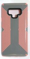 Speck - Presidio GLOSSY GRIP Case for Samsung Galaxy Note 9 - Gray/Pink