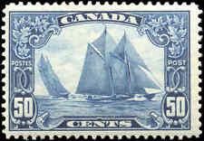 Mint H Canada 50c 1929 F+ Scott #158 King George V Scroll Stamp