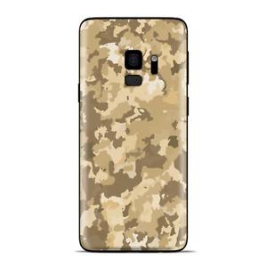 Samsung Galaxy S9 Skins Wrap - Brown Desert Camo camouflage