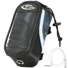 Support etui smartphone bicyclette sacoche vélo sac housse téléphone S noir-bleu