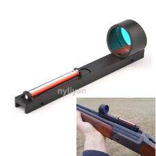 Holographic Red Dot Sight Red Fiber Reflex Scope Fit Shotgun Rib Rail Hunting