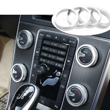 Car Air Conditioning Knob Ring Sticker Decoration Aluminium Alloy Kit For Volvo