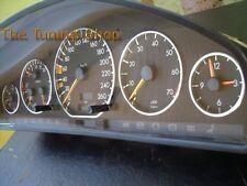 Pour Mercedes SL R129 89-01 W140 Aluminium JAUGE CADRAN ANNEAUX CHROME TRIM entoure