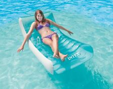 Intex Inflatable Rockin' Lounge Pool Float w/ Cupholder | 58856EP (Open Box)