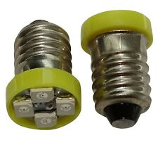 2x ampoules E10 4LED SMD 12V lumière jaune
