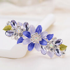 Flower Girls Women Hairpin Hair Accessories Hair Clips Rhinestone Crystal