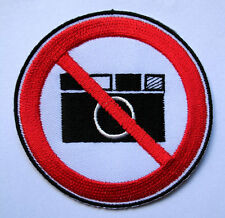 DO NOT DON'T NO PHOTO TAKE A PICTURE Embroidered Iron on Patch Free Postage