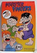 Monster Fingers Gumball Vending Machine Card /Old Stock