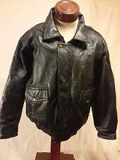 NWT English Leather Black Genuine Leather Jacket Large