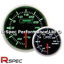 PROSPORT 52mm SUPER Verde/Bianco Turbo Boost Gauge PSI-versione motore passo-passo