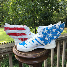 Size 6.5 Adidas Jeremy Scott Wings 2.0 US FLAG Stars n Strips V24619 Authentic