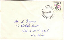 """Cds """"New Lambton"""" (with postcode) on Fdc 1970 6c Coil Flower"""