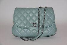 Chanel Light Blue Quilted Messenger Flap Bag 2015