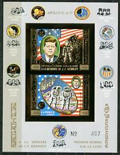 Cambodge KENNEDY Space Espace APOLLO 11 1974 Gold foil Or Bloc 37 B imp RARE !!