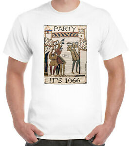 Party Like It's 1066 BAYEUX TAPESTRY T-Shirt King Harold History Anglo Saxon