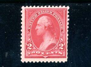 USAstamps Unused FVF US 1894 Bureau Issue Washington Scott 249 OG MLH