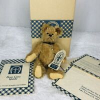 Vintage Knickerbocker Toy Company Lenny Jointed Bear Mohair Box Ear Pin