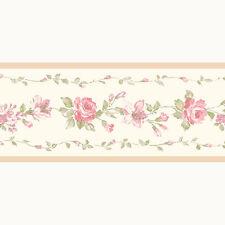 PP79471 - Pretty Prints 4 Blumen Beige Pink Galerie Tapete Bordüre