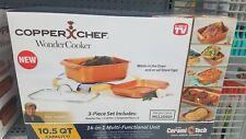 Copper Chef Wonder Cooker 3 Piece Cookware Set, 9-Qt. Roaster Pan, Top Quality