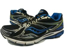 Saucony Hurricane 16 Running Shoes Black Silver Blue 20225 Men's Size 11