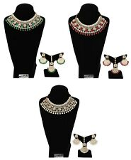 Indian Traditional Kundan Bridal Necklace Pearl & Colored Beads Bollywood Set