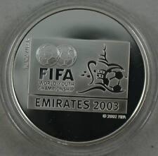 UNITED ARAB EMIRATES 50 Dirhams 2003 Silver Proof FIFA World Youth Championship
